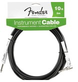 Fender Fender Performance Series 10' Right Angle to Straight Instrument Cable-Black