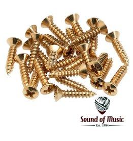 Fender Pickguard/Control Plate Mounting Screws (24) (Gold)