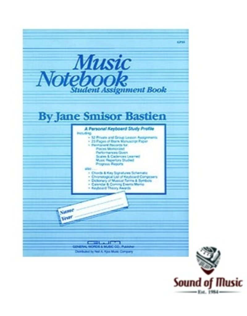 Bastien Music Notebook-Student Assignment Book