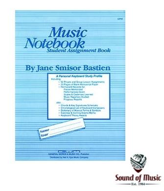 Bastien Music Notebook-Student Assignment Book