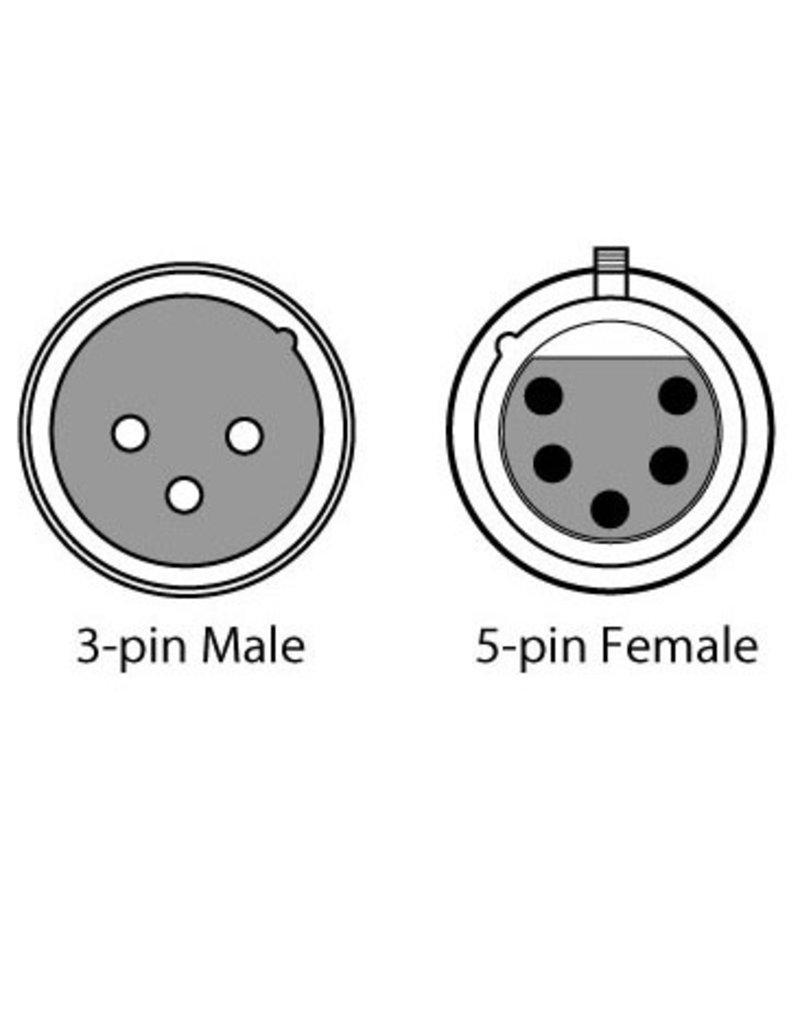 Chauvet Chauvet DMX5F3M DMX 5-Pin F to 3-Pin M Adaptor