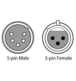 Chauvet Chauvet DMX3F5M 3-Pin F to 5-Pin M Adaptor