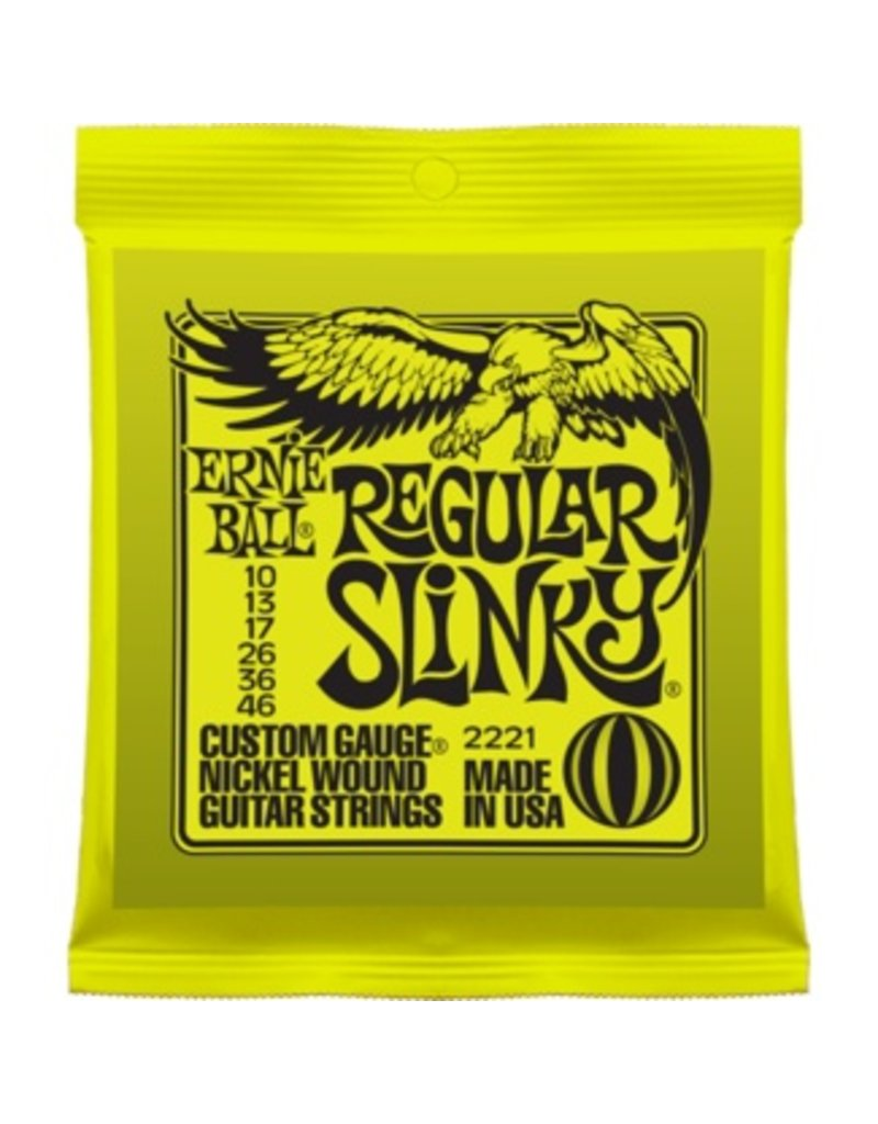 .010-.046 Custom Gauge Electric Guitar Strings, Nickel Wound, Regular Slinky