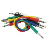 "Peavey 3' 1/4""  Multi-Color Patch Cables-6 Pack"