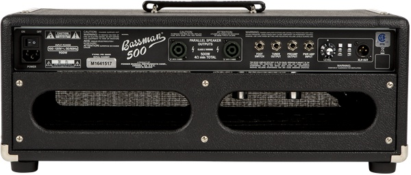 Fender Bassman® 500 Head, 120V, Black/Silver