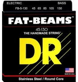 Stainless Steel FB5-130 Bass Strings, Fat-Beams, Round Core, 46 65 85 105 130 Gauges, Set of Five
