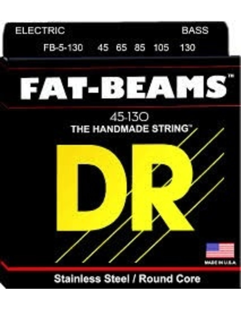 DR FB5-130 Fat-Beams Stainless Steel 5-String Bass Strings - Medium