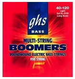 GHS Boomers 5L-DYB Roundwound 5-String Bass Strings-Light Gauge