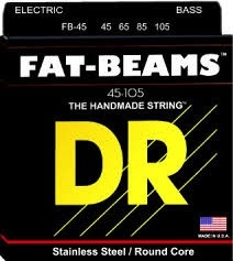 Stainless Steel FB-45 Bass Strings, Fat-Beams, Round Core, 45 65 85 105 Gauges, Set of Four