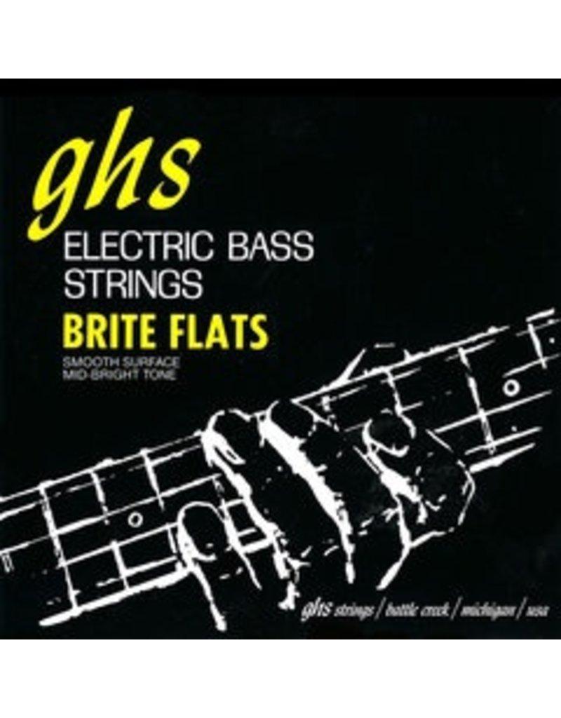 GHS L3075 Brite Flats Bass Strings - Light