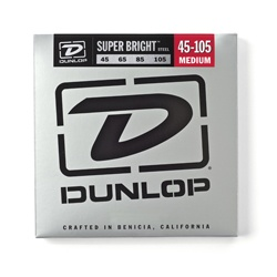 Dunlop Super Bright Stainless Steel Bass Strings - Medium