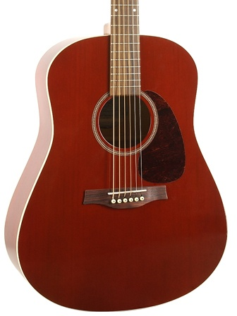 Seagull Seagull S6 Cedar GT Acoustic-Electric Guitar-Trans Red