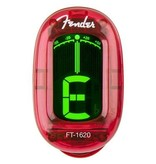 Fender California Series Clip-On Tuner, Candy Apple Red