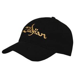 Zildjian Black Baseball Cap-Gold Logo