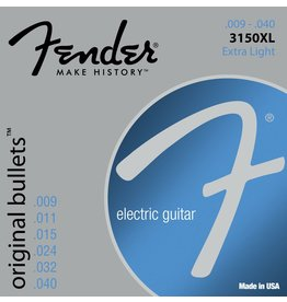Fender 3150XL Pure Nickel Bullets Electric Guitar Strings-Extra Light