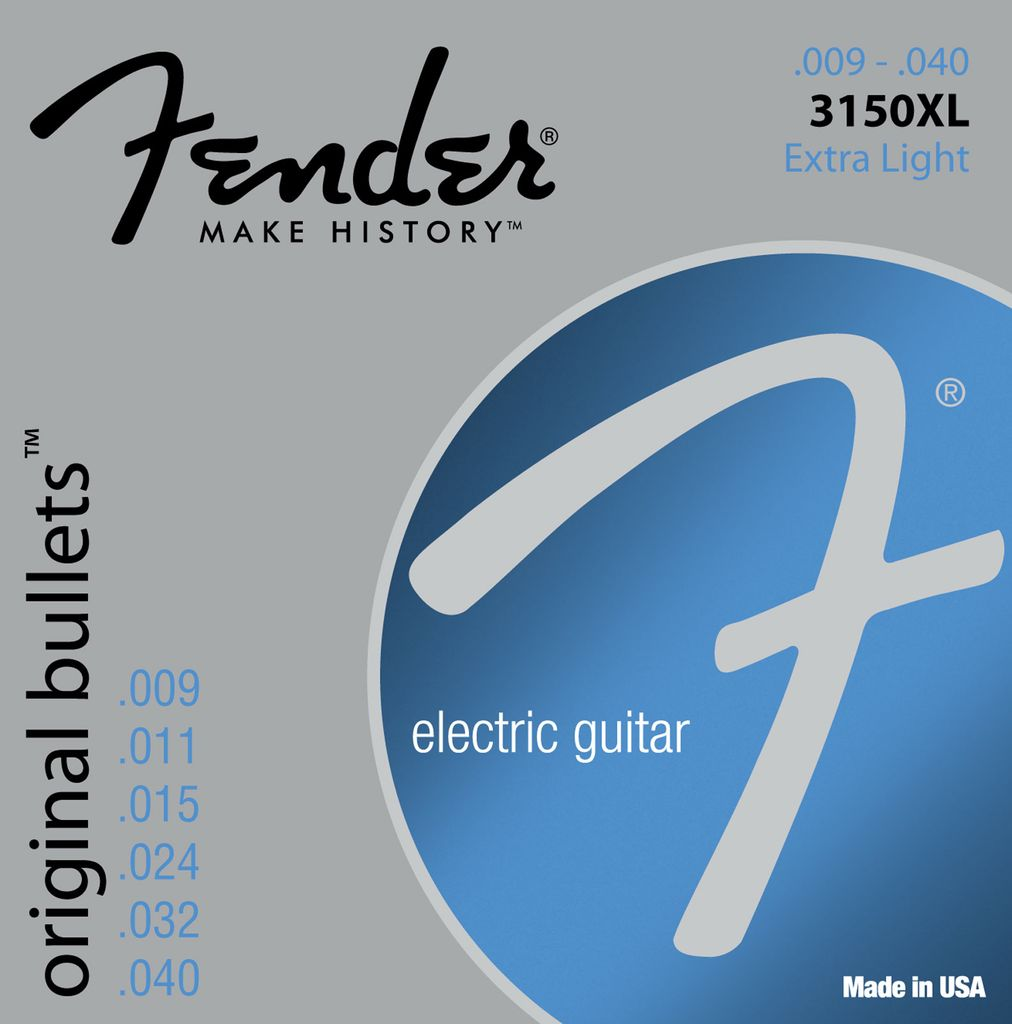 Fender 3150XL Pure Nickel Bullet Ends Electric Guitar Strings - Extra Light