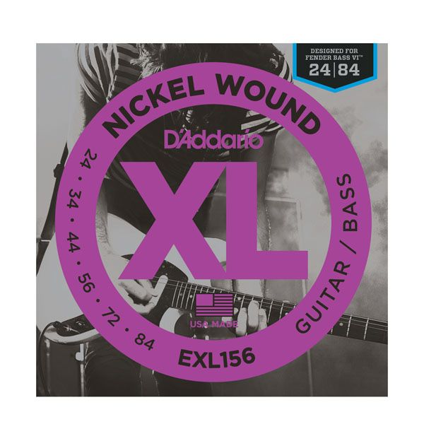 D'Addario EXL156 Fender Bass VI Nickel Wound