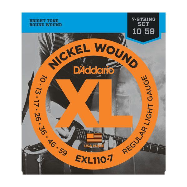 D'Addario EXL110-7 Nickel Wound 7-String Electric Guitar - Regular Light