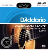 D'Addario EXP11 Coated 80/20 Bronze Acoustic Guitar Strings - Light