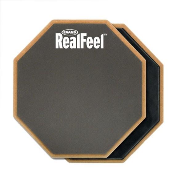 """Evans RealFeel 6"""" 2-Sided Standard Practice Pad"""