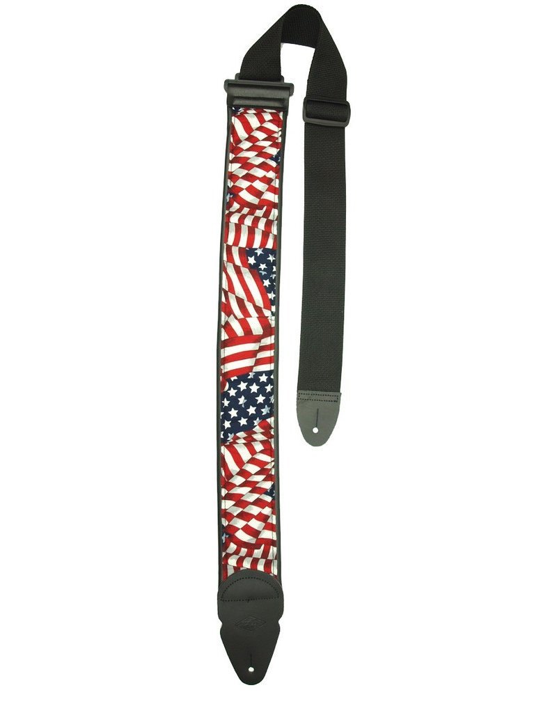 LM American Flag Guitar Strap