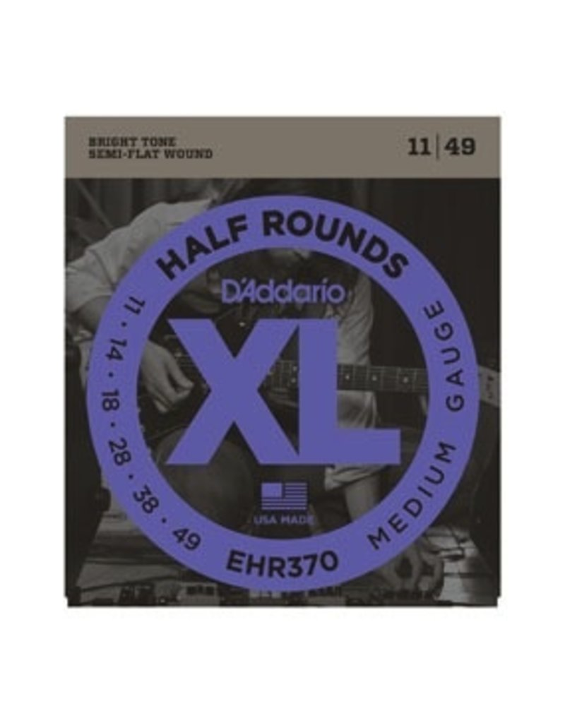 D'Addario EHR370 Half Rounds Electric Guitar Strings - Medium