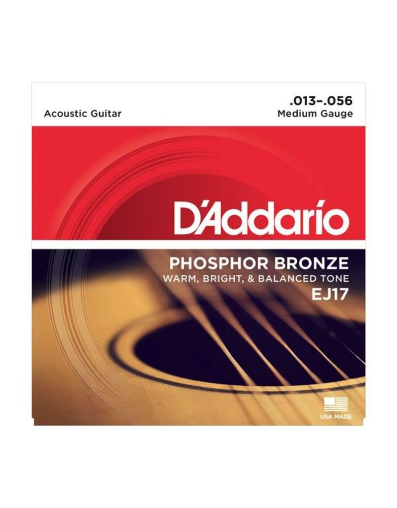 D'Addario EJ17 Phosphor Bronze Acoustic Guitar Strings - Medium