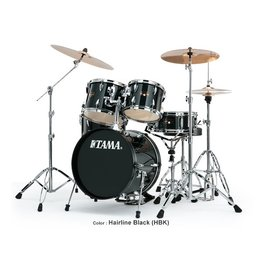 Tama Tama Imperialstar 5-Peice Drum Set w/Cymbals-Hairline Black