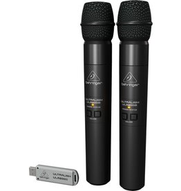 Behringer High-Performance 2.4 GHz Digital Wireless System with 2 Handheld Microphones and Dual-Mode USB Receiver