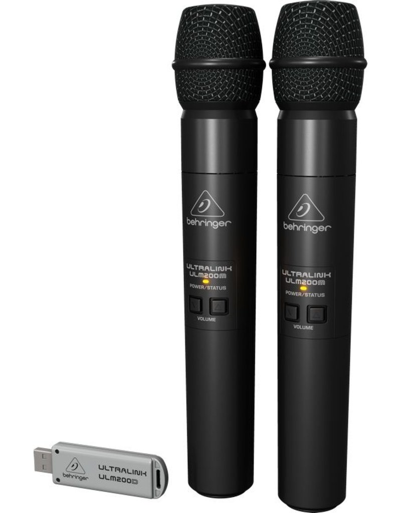 High-Performance 2.4 GHz Digital Wireless System with 2 Handheld Microphones and Dual-Mode USB Receiver