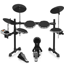 High-Performance 8-Piece Electronic Drum Set with 240 Sounds, 15 Drum Sets, LCD Display and USB/MIDI Interface