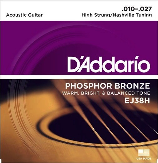 D'Addario EJ38H Phosphor Bronze High Strung/Nashville Tuning