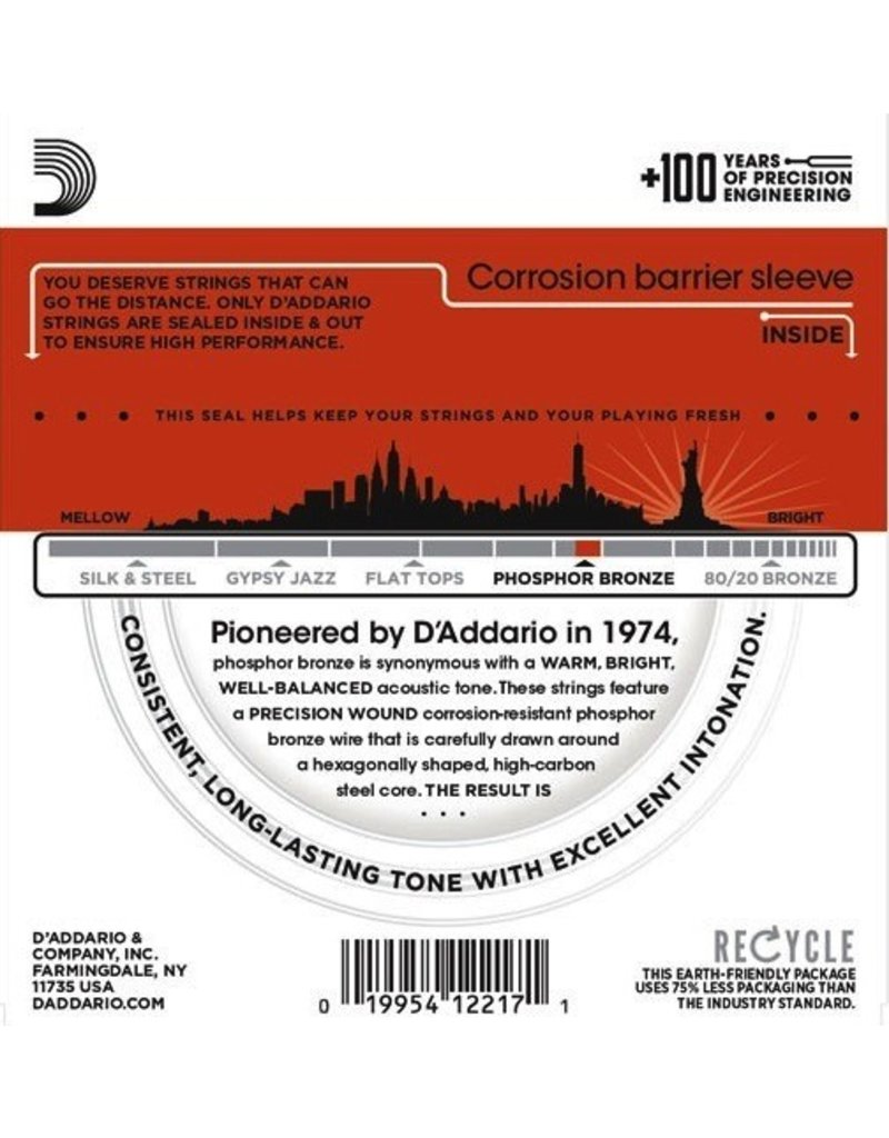 D'Addario EJ42 Phosphor Bronze Resophonic Guitar Strings - Medium