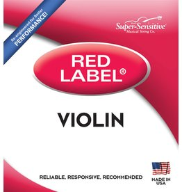 Red Label Violin 3/4 Size Medium Gauge String Set
