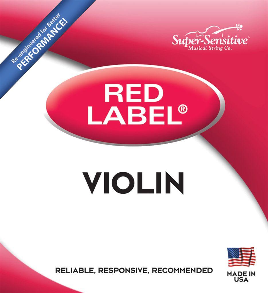 Red Label Violin 1/8 Size Medium Gauge String Set