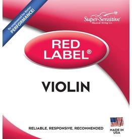 Red Label Violin 4/4 Size Medium Gauge String Set