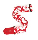 Planet Waves Hibiscus Guitar Strap, Red