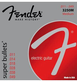 Fender .011-.049 Medium Electric Guitar Strings, Super Bullets