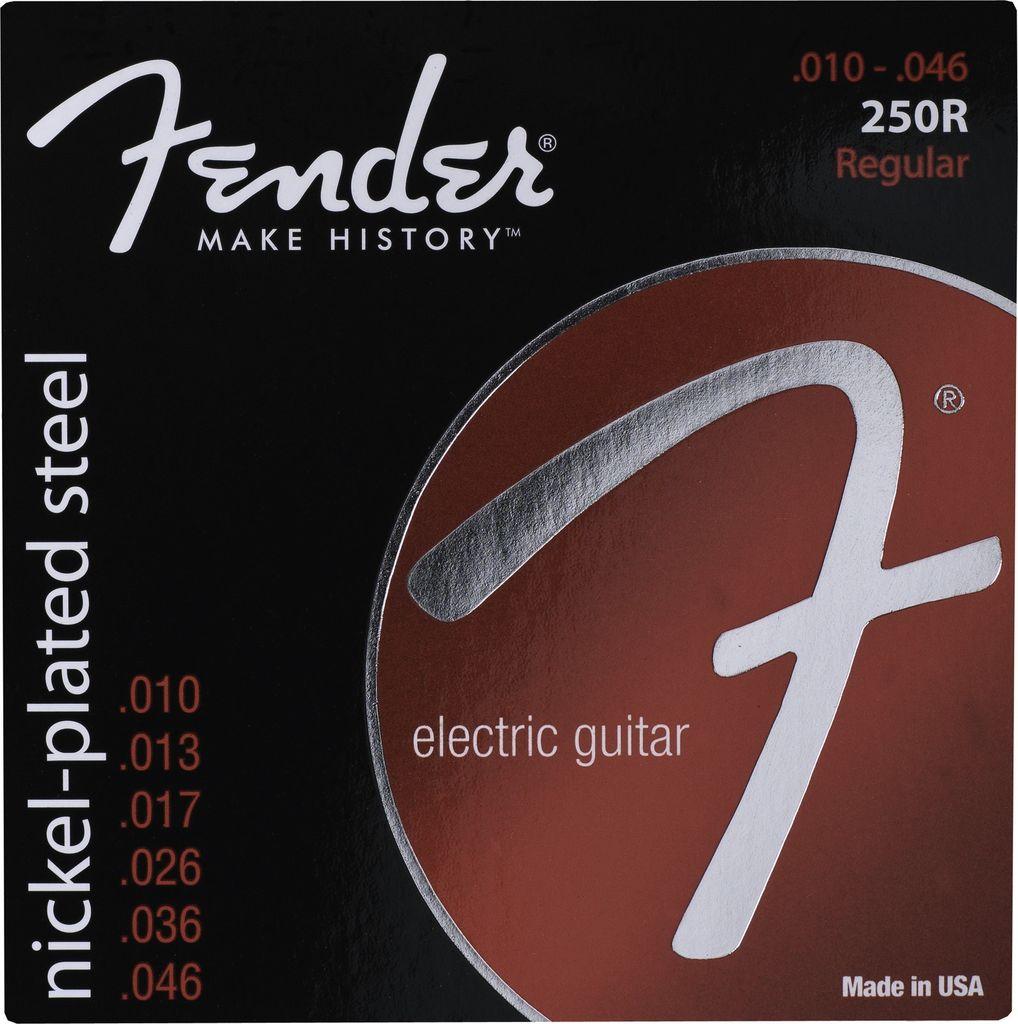 Fender .010-.046 Regular Electric Guitar Strings, Nickel Plated Steel