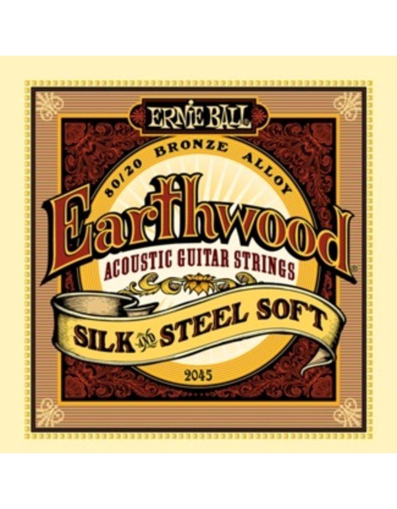 Ernie Ball 2045 80/20 Bronze Silk and Steel Acoustic Guitar Strings - Light