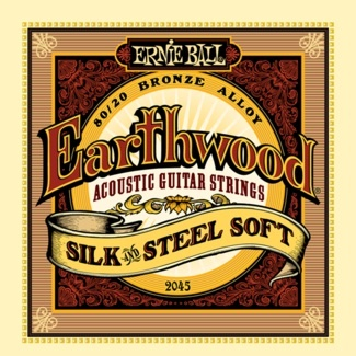 Ernie Ball 2045 80/20 Bronze Silk and Steel Acoustic Guitar Strings - Light