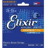 Elixir 12102 Nanoweb Electric Guitar Strings - Medium