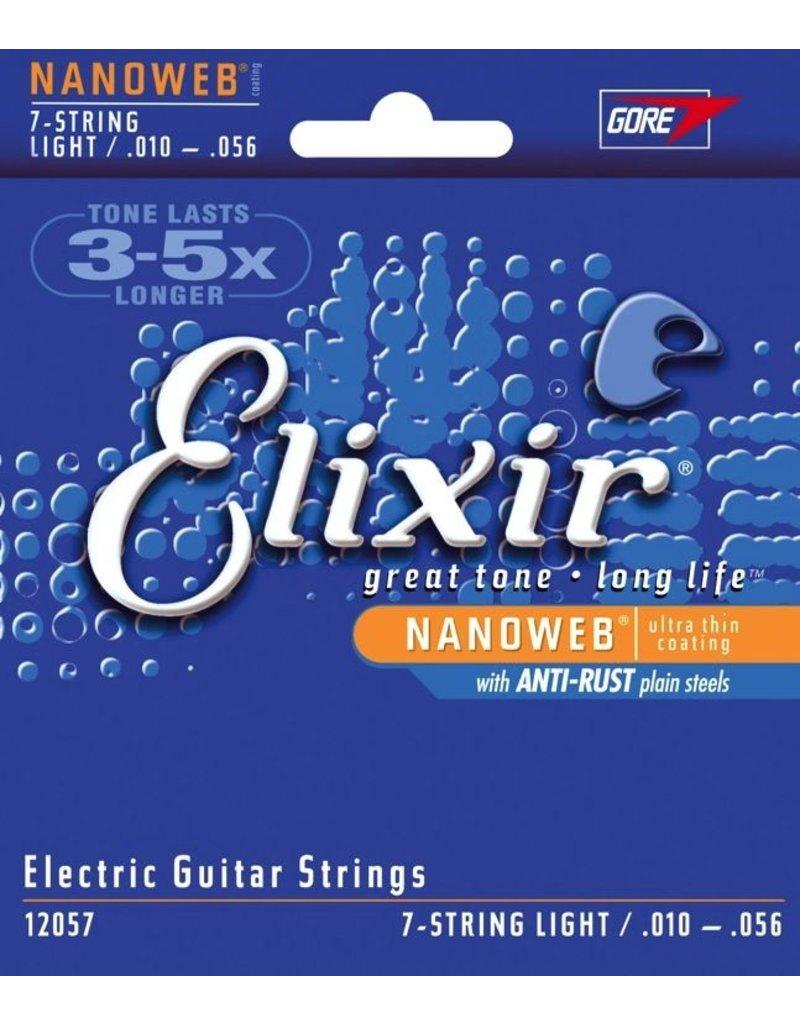 Elixir 12057 Nanoweb Nickel Plated Steel Electric Guitar Strings - Light