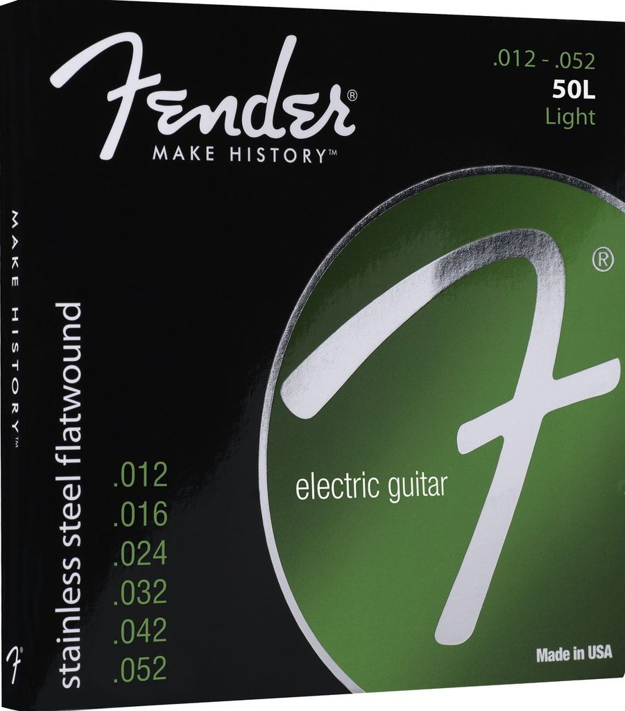 Fender 50L Stainless Steel Flatwound Electric Strings - Light
