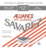 .024-.042 Normal Tension Classical Guitar Strings, Nylon Carbon, Polished Silver Winding