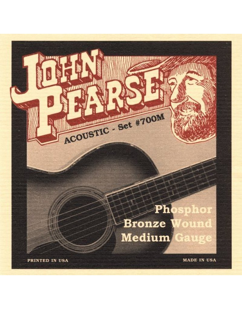 John Pearse Phosphor Bronze Acoustic Guitars Strings - Medium
