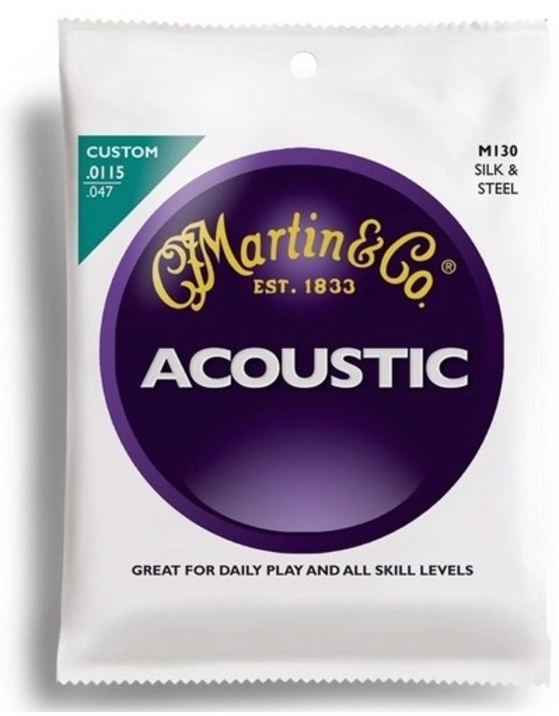 Martin M130 Silk & Steel Acoustic Guitar Strings - Custom