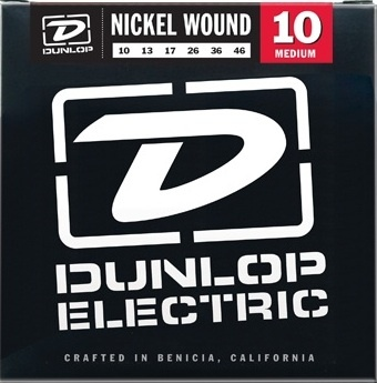 Dunlop DEN1046 Nickel Wound Electric Guitar Strings - Medium