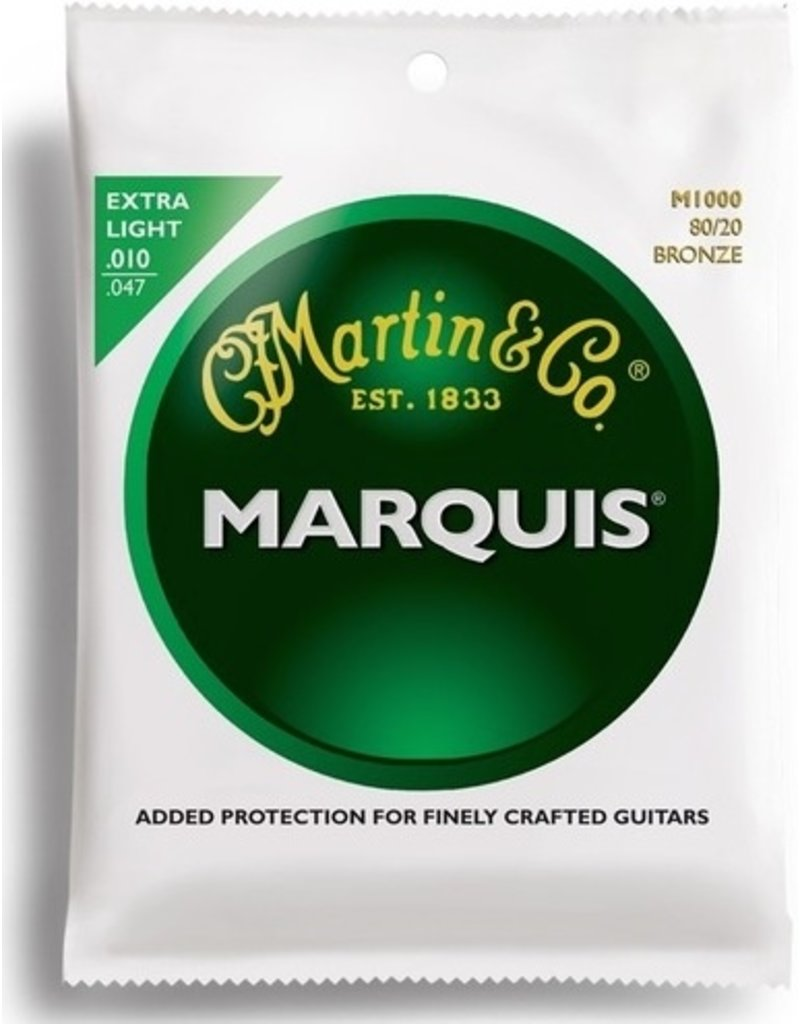 Martin Marquis M100 80/20 Bronze Acoustic Guitar Strings - Extra Light