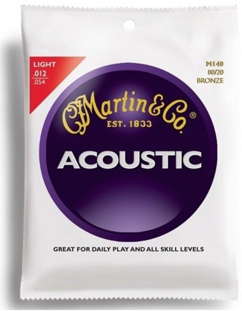 Martin M140 80/20 Bronze Acoustic Guitar Strings - Light